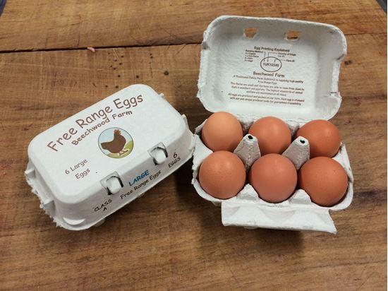 Picture of 6 x Free Range Beechwood Farm Eggs (local)